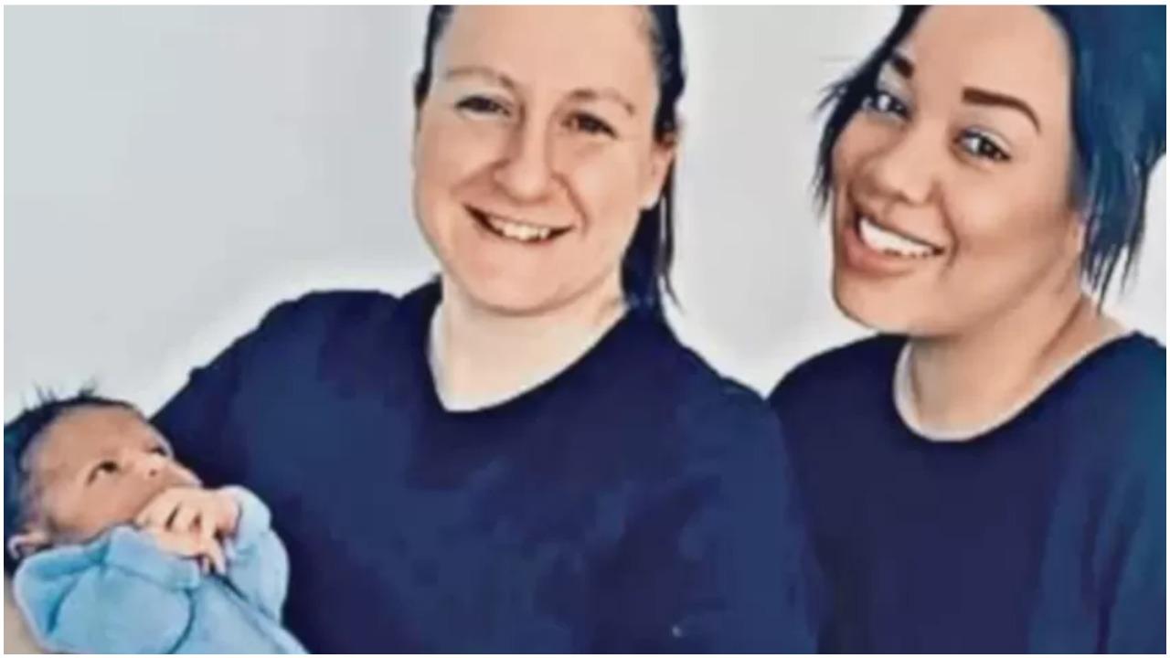 Mama w ciąży lesbijka