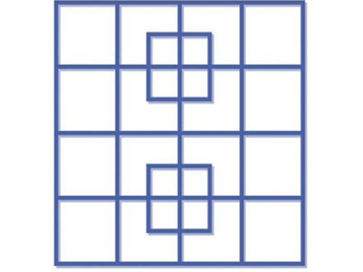 Ile kwadratów widzisz na tym obrazku? Zaledwie 1% ludzi potrafi podać poprawną odpowiedź, wyzwanie tylko dla spostrzegawczych