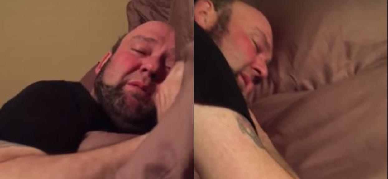 Żona obserwowała jak mąż śpi. Znalazła w łóżku rzecz, która nigdy nie powinna się tam znaleźć i wszystko nagrała