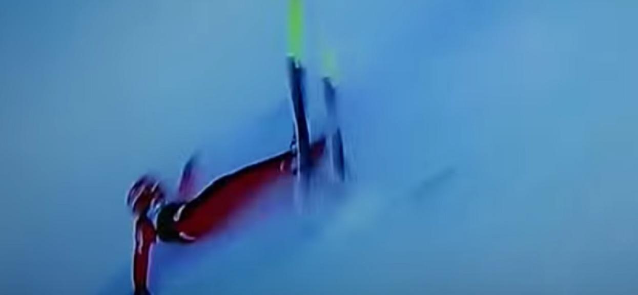Skoki narciarskie, potworny wpadek