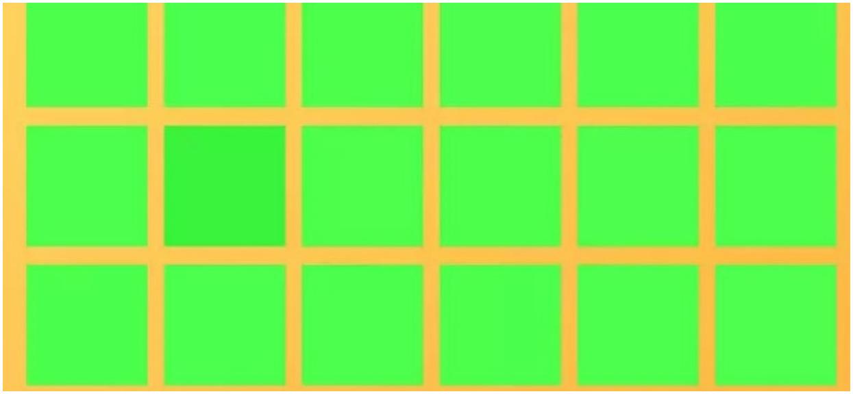 Tylko jeden kwadrat się wyróżnia. Wydaje się proste, jednak nie wszyscy sobie z tym radzą