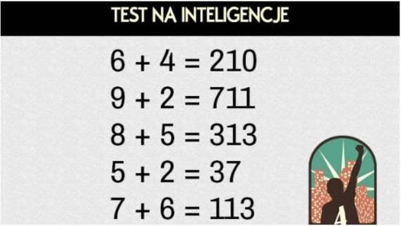 matematyka test na inteligencje