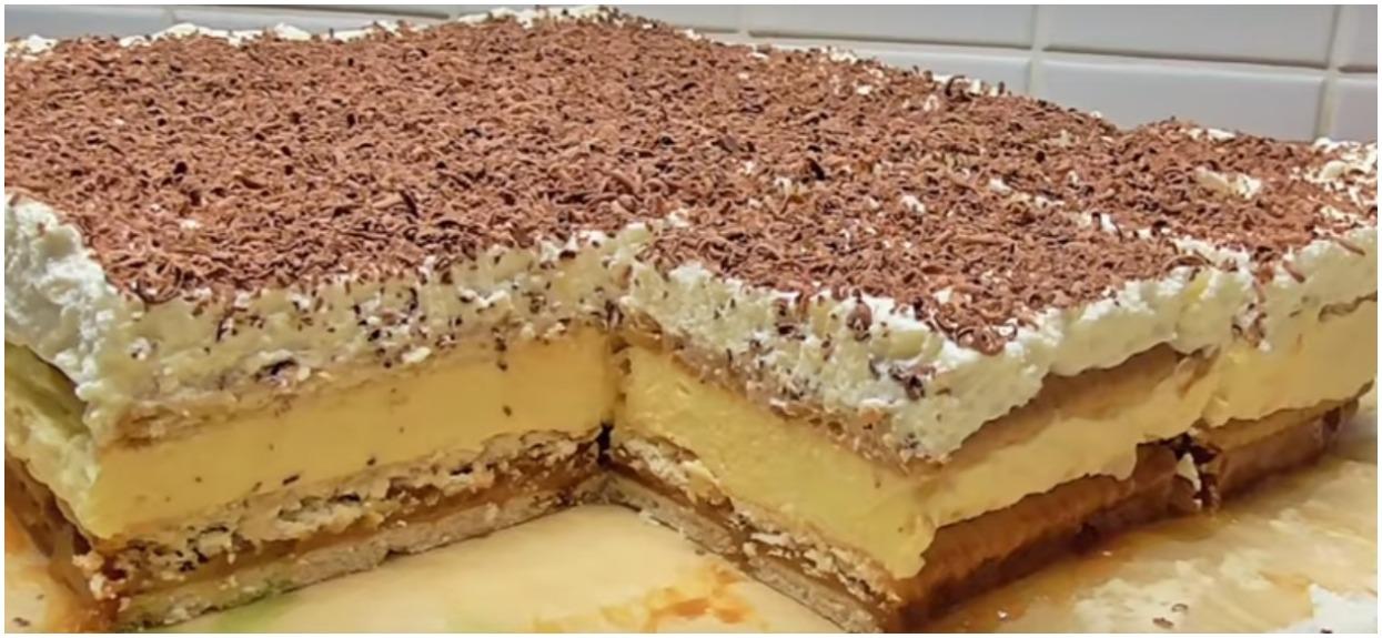 Puszyste i kremowe ciasto bez pieczenia oczaruje wszystkich domowników. Zjedzą je co do okruszka