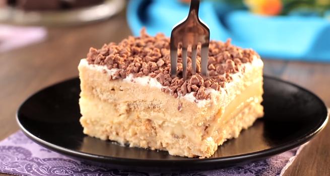Rewelacyjnie proste i szybkie ciasto bez pieczenia. Nawet 4-letnie dziecko poradziłoby sobie z przygotowaniem