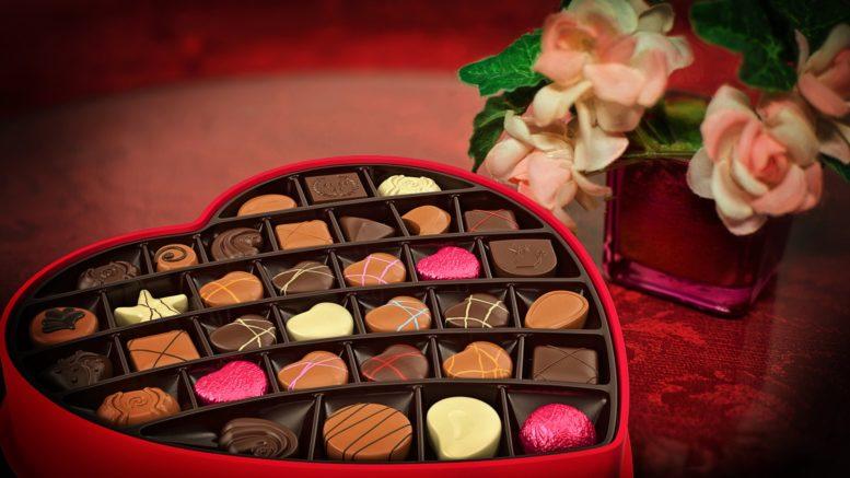 Słodkie czekoladki na walentynkową noc