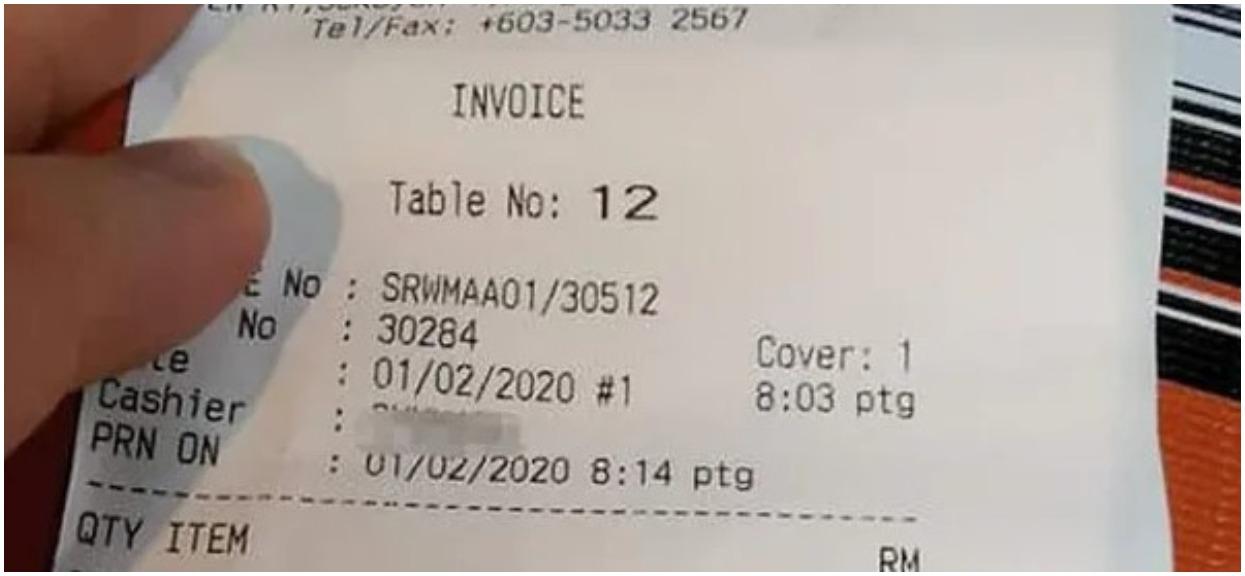 Zamówił deser w restauracji. Gdy zobaczył, co kelner napisał na paragonie, zamarł