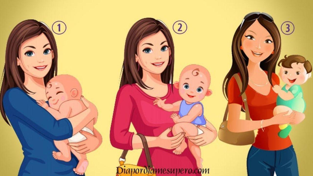 Jedna z kobiet na zdjęciu nie jest prawdziwą mamą. Wybierz jedną z nich i poznaj prawdę o sobie
