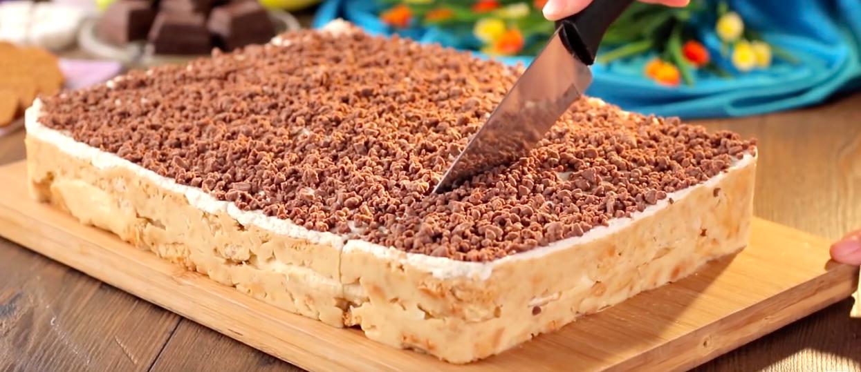 Rewelacyjnie proste i szybkie ciasto bez pieczenia. Nawet dziecko poradziłoby sobie z tym przepisem