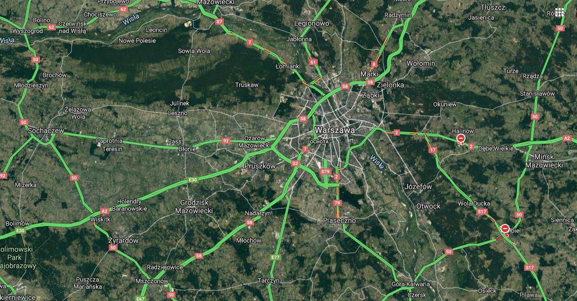 Dane satelitarne pokazują, co dzieje się w polskich miastach. Aż ciężko uwierzyć