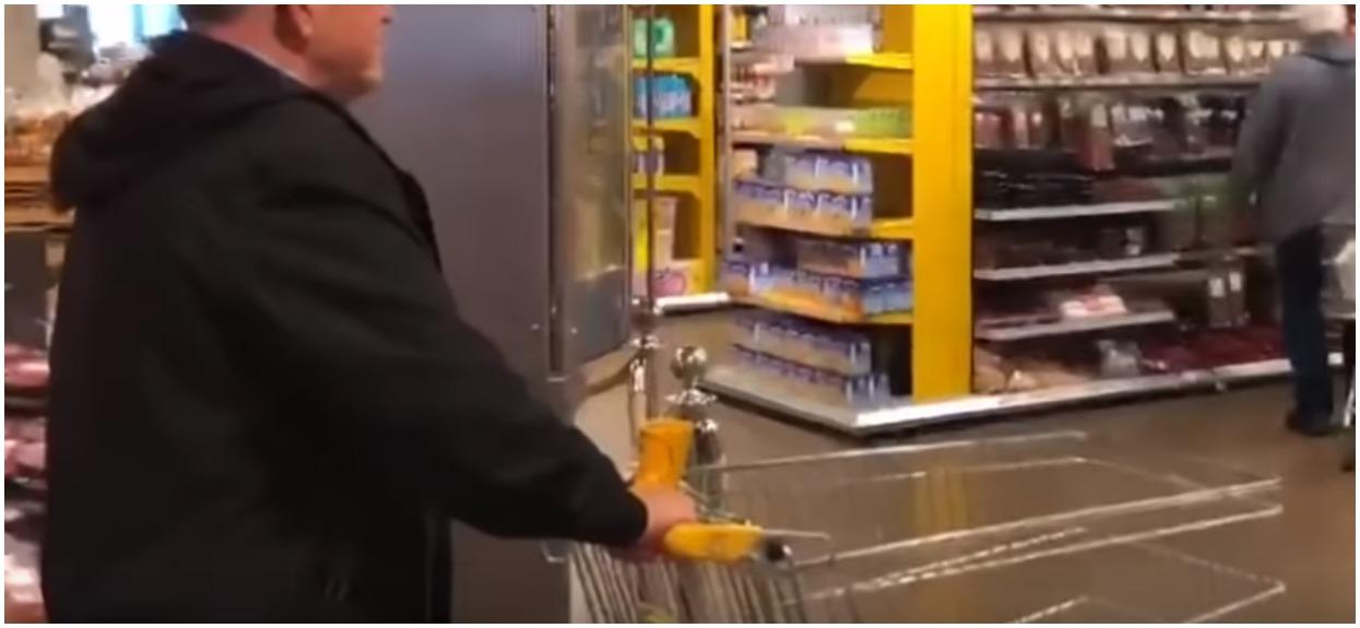 Mężczyzna miał minutę, żeby zrobić dowolne darmowe zakupy. Nie mieści się w głowie, jak się zachował