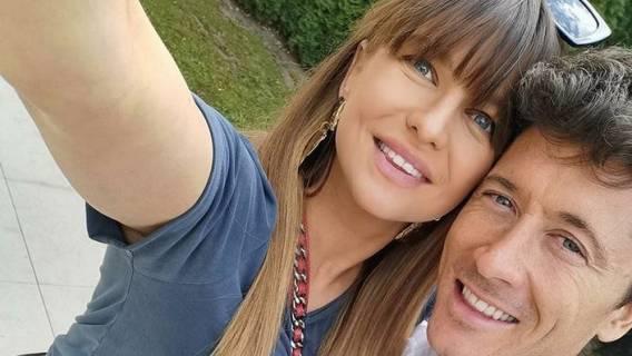 Anna Lewandowska pod koniec ciąży