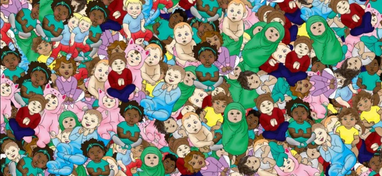 Na obrazku śpi tylko jedno dziecko, ale mało kto umie je znaleźć. Zadanie tylko dla najbardziej spostrzegawczych