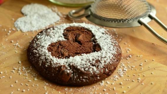 Ciastka czekoladowe bez jajek i mąki