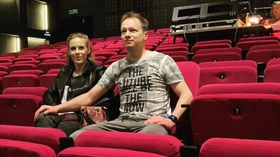 Maciej Stuhr i żona