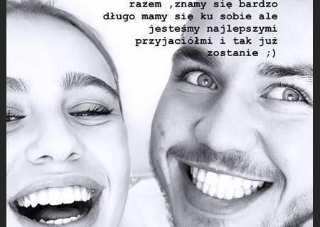 Oliwia Bieniuk z tatą