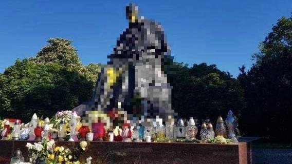 Pomnik papieża Jana Pawła II padł ofiarą wandali