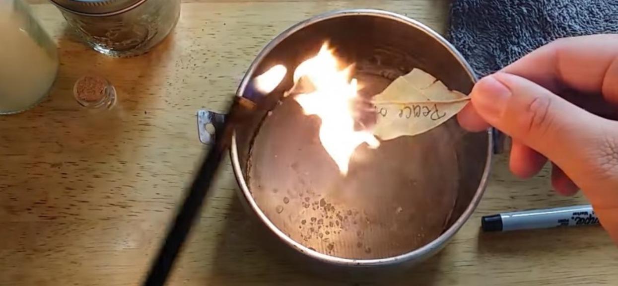 Babcia w sekrecie kazała jej podpalić w domu liść laurowy i poczekać, aż spłonie. Piorunujący efekt, natychmiast zapaliła olejny