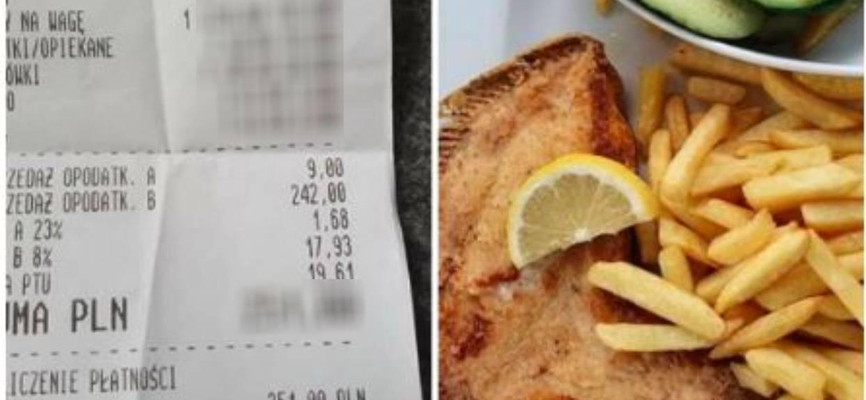 Klient zamówił zwykły obiad. Gdy zobaczył surówkę i jej cenę myślał, że ma halucynacje, kwota na paragonie przyprawia o zawrót głowy