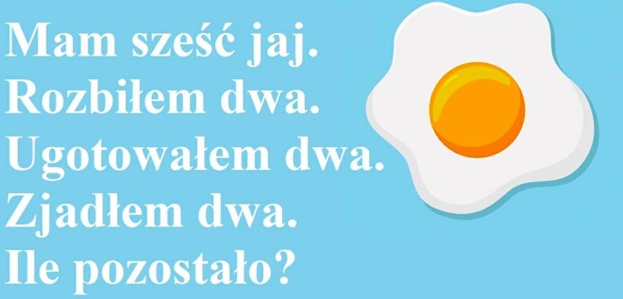 Zagadka podzieliła internautów, niewielu potrafi dobrze odpowiedzieć. Ile jajek zostało?