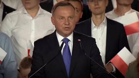 Andrzej Duda po poznaniu wyników sondażu exit poll spotkał się z dziennikarzami