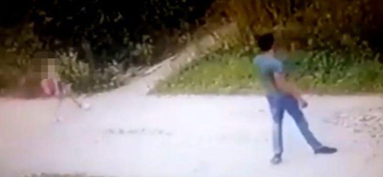Porażające nagranie. 30-latek zaczaił się na 9-latkę, chwilę później stało się najgorsze