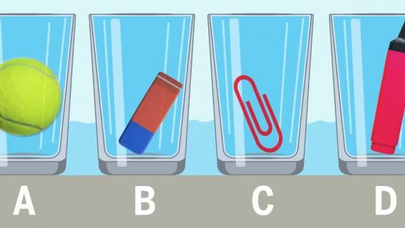 Zagadka ze szklanką wody