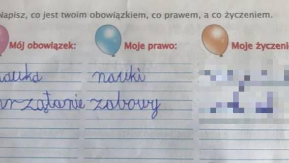 Mama praca domowa chłopiec odpowiedź