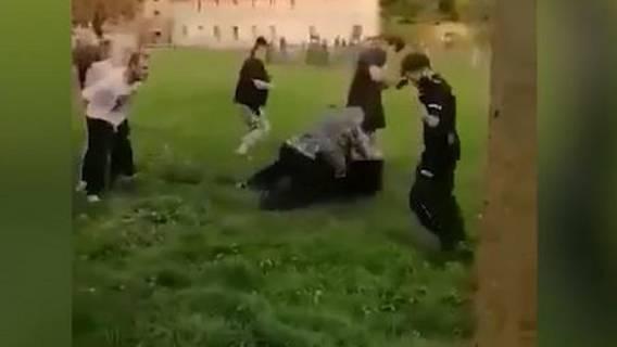 nagranie dantejskie sceny policjanci pobicie