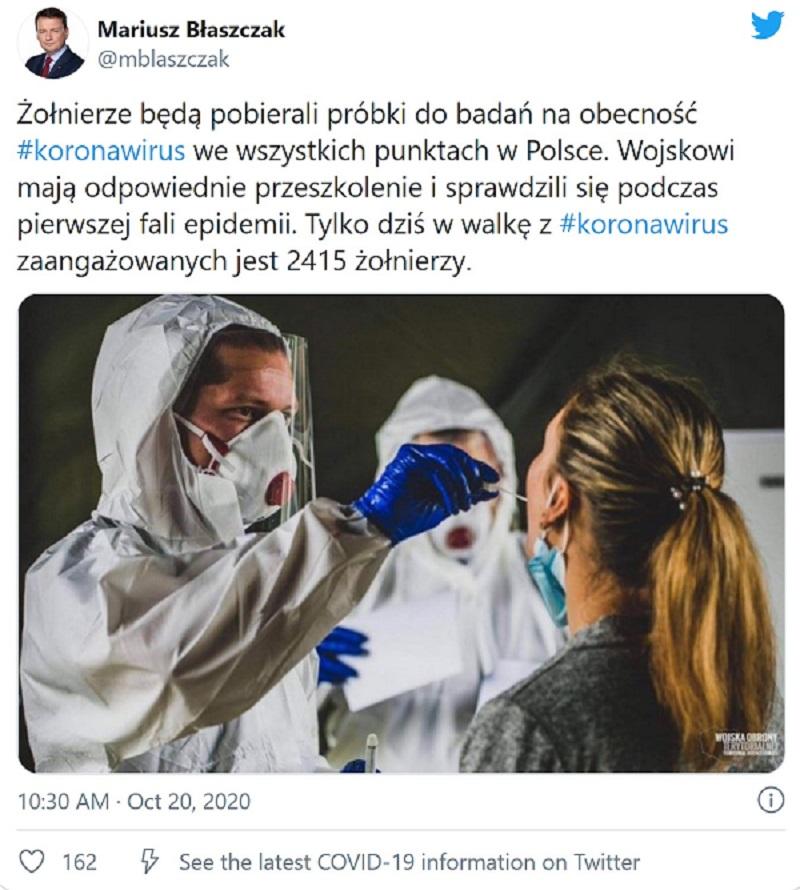 Wojsko w całej Polsce żołnierze koronawirus