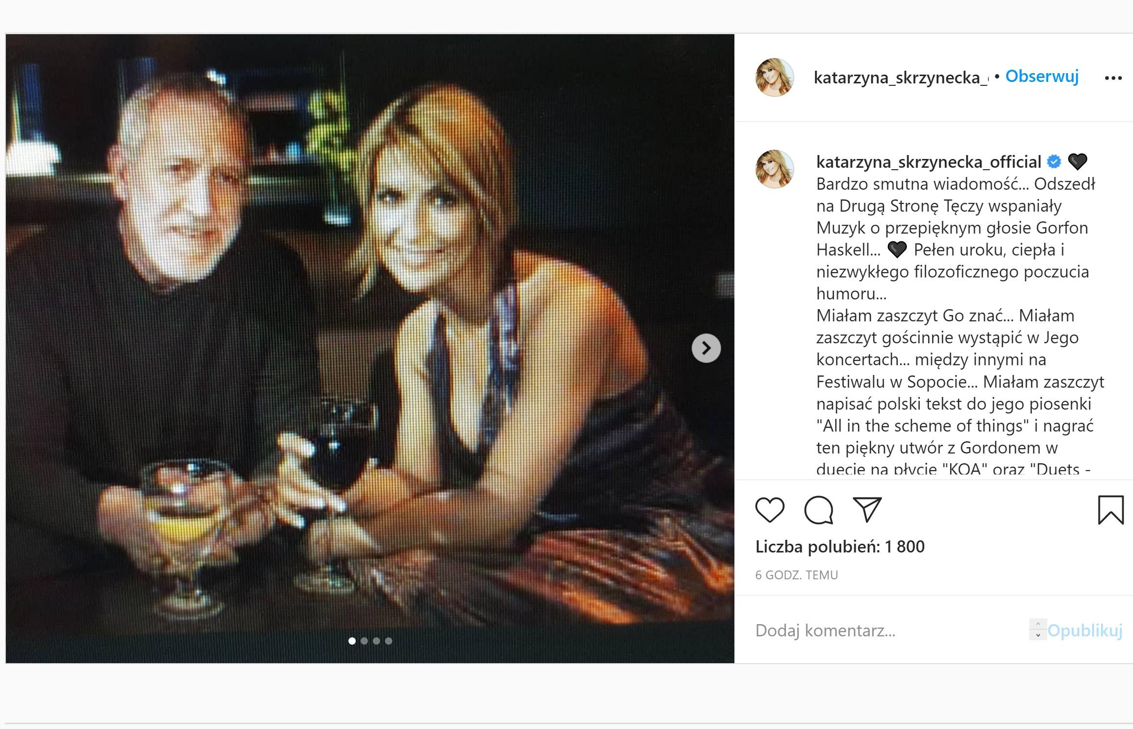 Katarzyna Skrzynecka żałoba