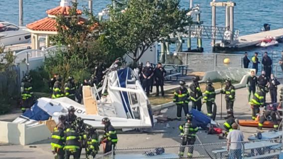 Samolot runął prosto na ziemię, uderzył w molo. Pilna akcja służb, są ofiary