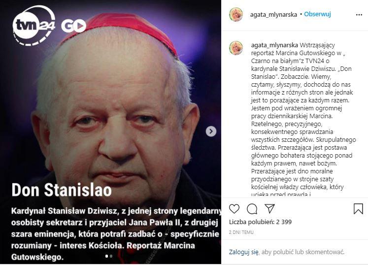 Agata Młynarska przerwała milczenie