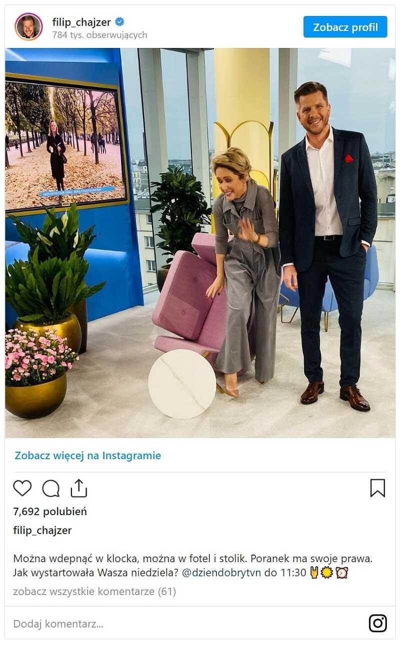 TVN wpadka Filip Chajzer