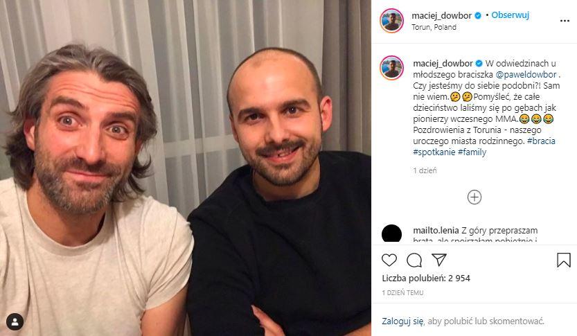Maciej Dowbor pokazał brata