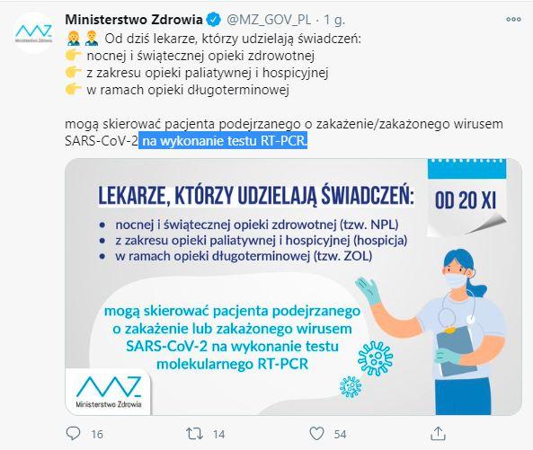 Ministerstwo Zdrowia apel