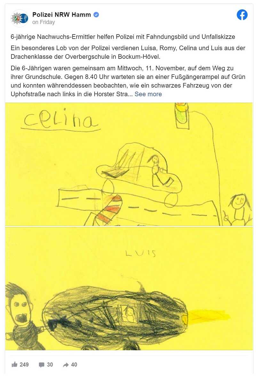 Dzieci policja rysunki