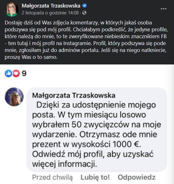 żona Rafała Trzaskowskiego