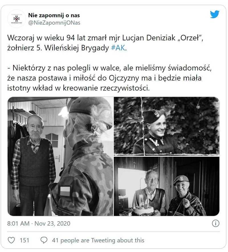 Nie żyje Lucjan Deniziak