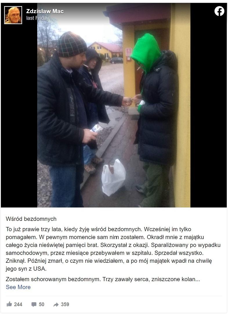 Dziennikarz bezdomność
