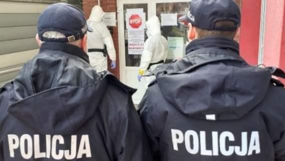 policjanci szpital szarpanina