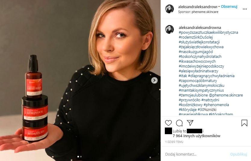 Aleksandra Kwaśniewska przeszła metamorfozę