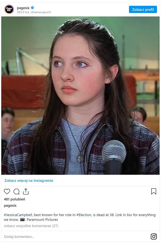 Aktorka nie żyje