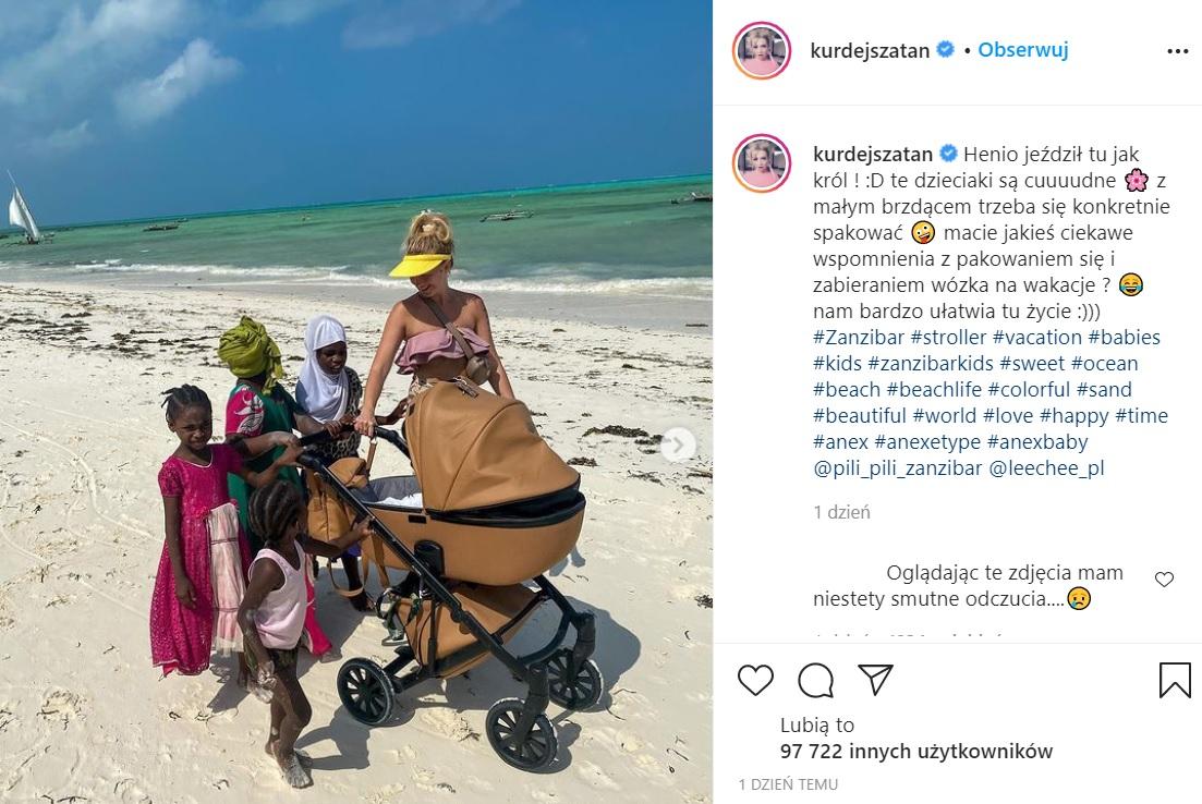 Barbara Kurdej-Szatan opublikowała zdjęcie z Zanzibaru
