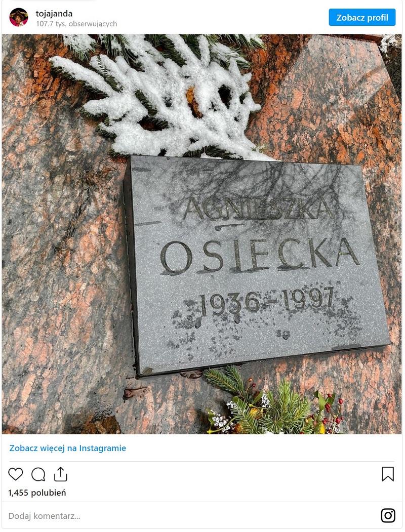 Grób Agnieszki Osieckiej