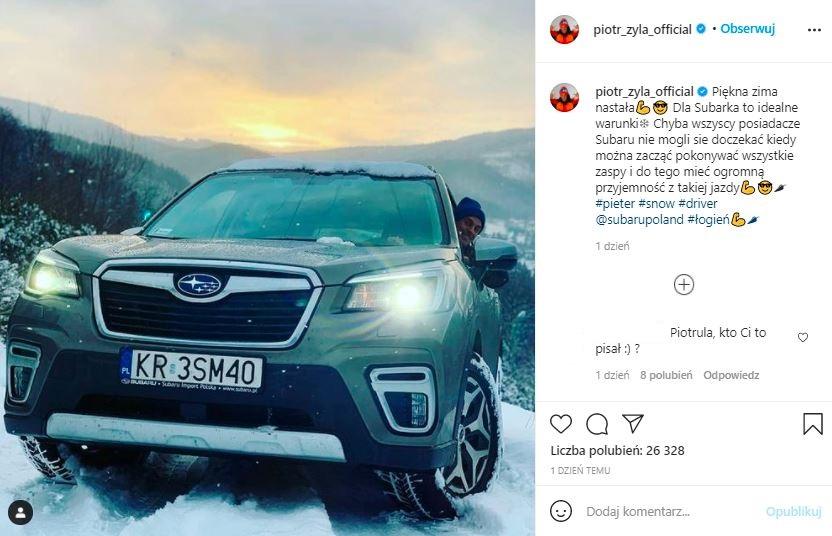 Piotr Żyła pochwalił się nowym samochodem
