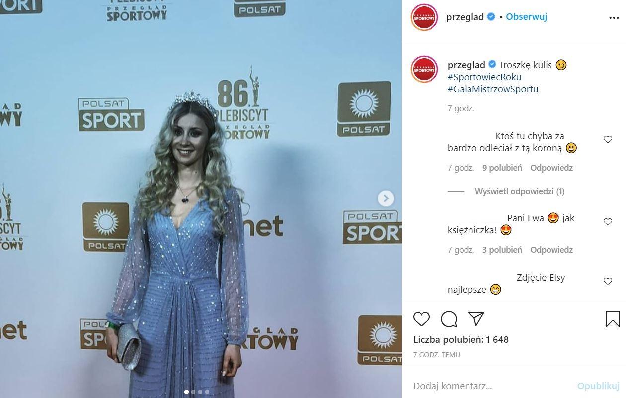 Żona Kamila Stocha na Gali Mistrzów Sportu