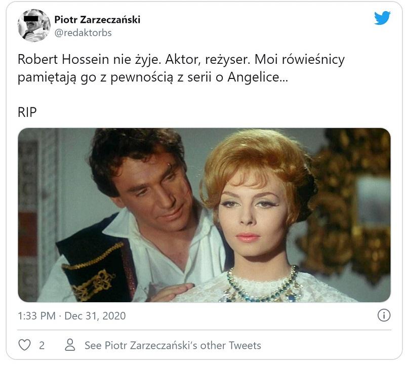 Wiadomości aktor nie żyje