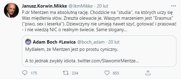 Janusz Korwin-Mikke obraził kobiety
