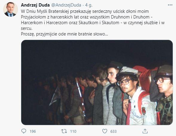 Andrzej Duda pokazał zdjęcie z dzieciństwa