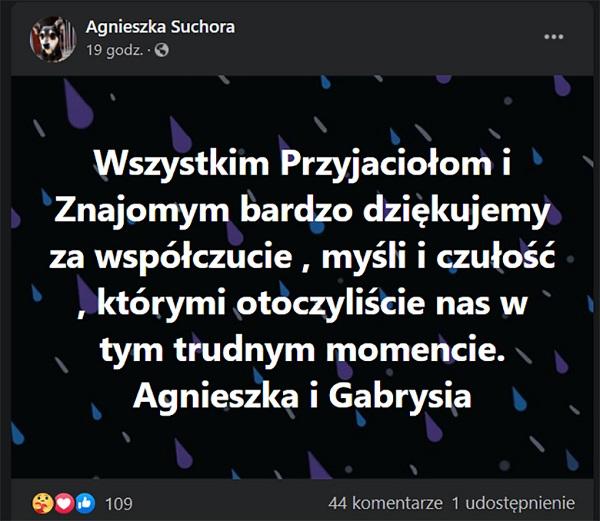 Żona pożegnała Krzysztofa Kowalewskiego